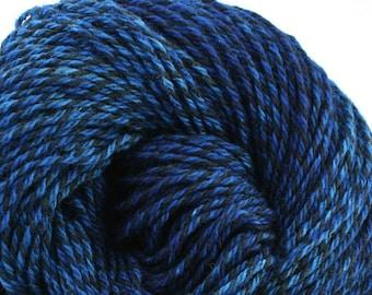 Rockwell Hand Dyed DK weight Wool 280 yds 4oz Deepest Cobalt