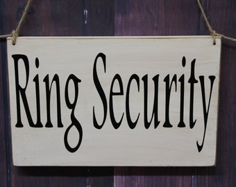ring security sign – Etsy