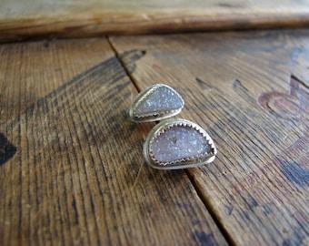 "Druzy Earrings- ""Crystalline"""