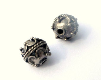 Bali Sterling Beads 9mm Round Set of 2