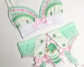 Mint & Ivory Vintage Floral Full Set - Pick Your Size - LIMITED EDITION - Handmade Vegan Bridal