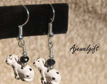 Dalmation Dog Earrings 8035