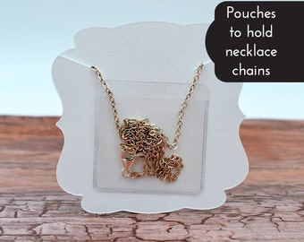 Necklace Card Pouches to Hold Loose Chain - Necklace Envelopes Pouch Pocket