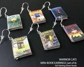 Warrior Cats Mini-Book Series Earrings, Set of 6