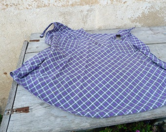 Vintage French 1920/1930 faded chore cotton  apron  2 pockets /workwear/Farm/countryside/timeworn