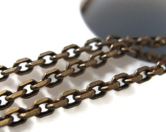 HOT SALE - Thin Brass Chain, Antique Brass Cable Chain, 10 Feet, Diamond Cut Chain, 2mm Chain for Making Jewelry (40 099 11 6)