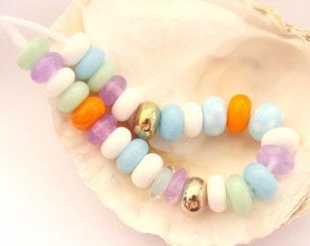 28 Handmade Lampwork Beads