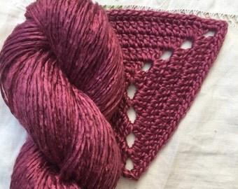 Silk Yarn - Hand Dyed DK - Shade: Claret