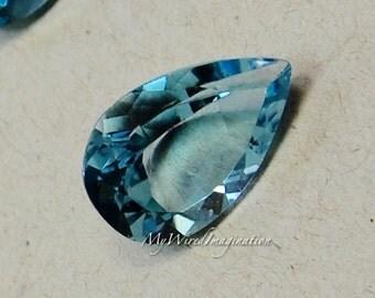 Swiss Blue Topaz, Genuine Faceted Swiss Blue Topaz, Pear Shape Cut, Loose Gemstone, November Birthstone,  Jewelry Supply, Medium Sky Blue