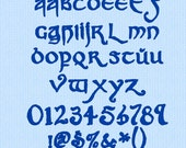 """Hobbit style Alphabet / Font - Machine Embroidery Design Files - Lord of the Rings LOTR - """"Party Business"""""""