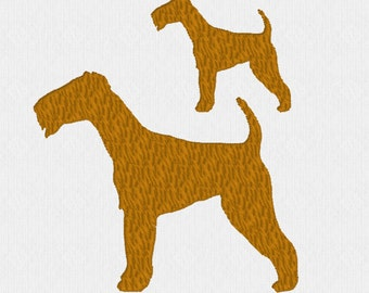Terrier dog - 2 sizes - machine embroidery design file