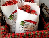 Christmas favor Bags,Santa Claus candy bags, Personalized candy bags, Treat Bags, Favor bags,Class Treat bags, Sweets, Treats