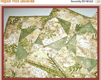 Quilted Table Runner Table Topper Table Accent Bedroom Dresser  Housewarming Gift One Of A Kind