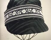 Black & White Cap - woman's fabric hat- Spring Fashion hat-Fall Fashion cap- Traveling Hat- Reversible Hat wearable 4 ways