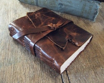 "Leather Travel Journal . ""The world is a book and those who travel read only one page"" - Augustine of Hippo . handmade handbound (320p)"