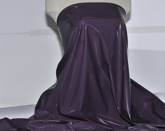 """Stretch Pleather  Purple /Grape fabric, 58"""" ...costumes, casual wear, jackets, theater, crafts"""