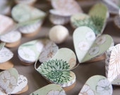 Paper garland, green wedding, Valentine garland, summer wedding decor, mint wedding decor, rustic wedding, romantic wedding, heart garland