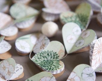 Paper Garland, Green Wedding, Eucalyptus, Summer Wedding Decor, Mint  Wedding Decor,