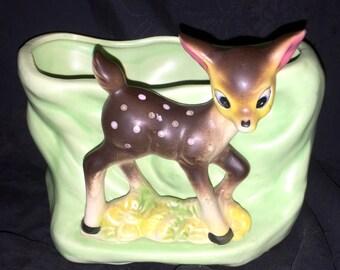 Vintage Deer Planter