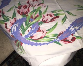 Vintage Spring Floral Table Cloth