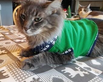 Seahawks Cat Jacket. Medium