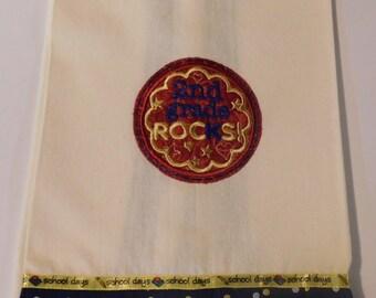 2nd Grade Rocks Embroidered Kitchen Towel; Teacher Gift; Kitchen Towel,2nd Grade,Teacher love