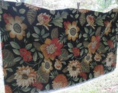 Reserved for KD - 2 Vintage Decorator Fabric Piece - Raymond Waites Screen Print Cotton Fabric