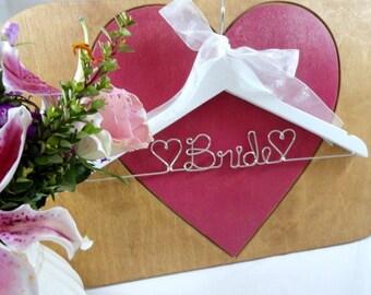 Bride Hanger Wire - Wedding Dress Hangers - Bridal Accessories - Personalized Bridal Hangers - Wedding Photo Props - Original Name Hanger