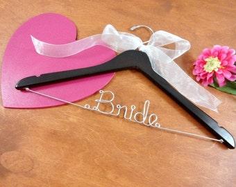 Bride Wire Hanger Bride Coat Hangers by OriginalBridalHanger