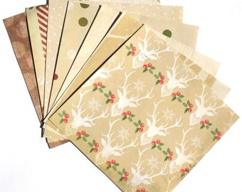 Rustic - 6x6 Recollections Sleigh Bells Ring Scrapbooking Paper Pack