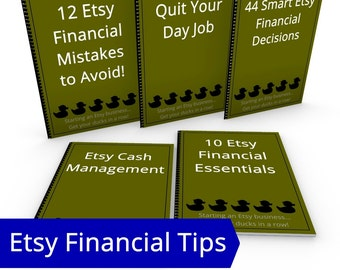 Start an Etsy Business Financial Tips Bundle, ALL Etsy Financial eBooks Hobby to Business Start a Small Business Small Business Resources