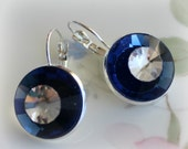 Old Hollywood Glamour in Sapphire and Crystal Earrings