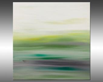 Sunset 44 - Abstract Landscape Painting, Original Modern Art Painting, Abstract Canvas Wall Art, Sunrise Sunset
