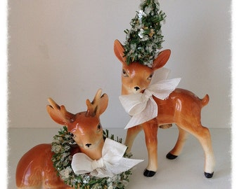 Christmas Decoration Vintage Deer Christmas Ornament Christmas Decor