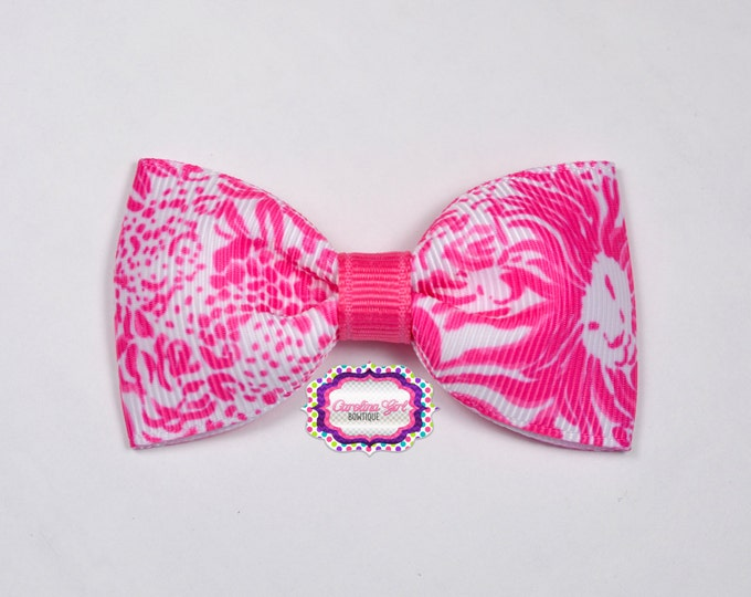 """Get Spotted ~ 3"""" Hair Bow Tuxedo Bow ~ Lilly Inspired ~ Simple Bow ~ Boutique Bow for Babies Toddlers ~ Girls Hair Bows"""