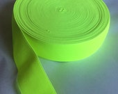 Fluorescent yellow elastic, 2 inches wide