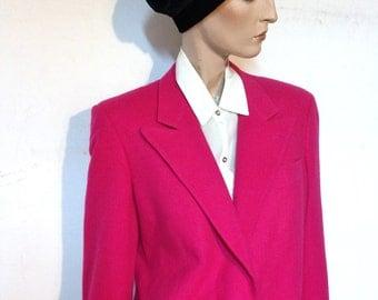 Pink Camel Hair Jacket Blazer 80s Mark Shale Size 10