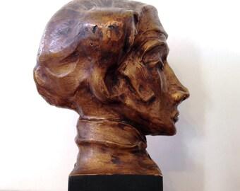 Matador Sculpture Bust Vintage 50s Bullfighter