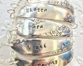 Silver Stamped Bridesmaids Name Bracelet