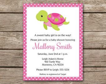 PRINTABLE Sea Turtle Baby Shower Invitation, Sea Turtle Invitation