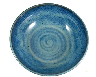 Pottery Serving Bowl  - X Large Ceramic Bowl - Handmade Serving Vessel - Wheel Thrown Stoneware Bowl - Ready to Ship