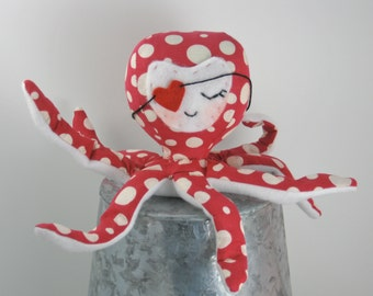 Plush Love Octopus Doll