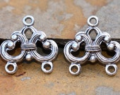 2 Nunn Design Antique Silver Strand Reducer Filigree 2 Loop, Connectors, Chandeliers, Low Shipping