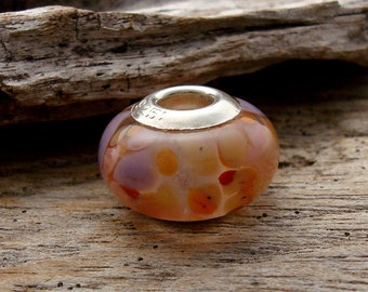 LARGE HOLE Bead - Handmade Lampwork Large Hole Bead - 1 Bead