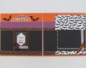 Happy Halloween Premade or  DIY Kit,12x12 Scrapbook Layout,  Scrapbook Page Kit