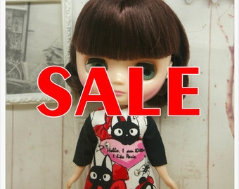 SALE~~LADYBIRD HOUSE Blythe Outfit Black Cat Dress For Middie Blythe
