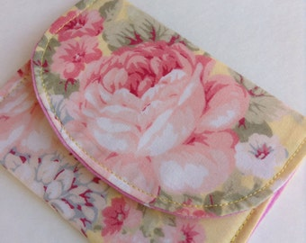 """Pretty Floral Wallet/Cardholder 4 1/2"""" x 3 1/2"""" Free Shipping Please read entire description before ordering"""