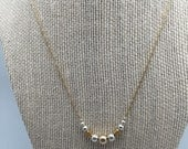Gold filled and sterling silver necklace