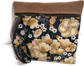 Floral Makeup Organizer , Cosmetic Pouch , Navy Floral Print , Organizer Clutch , Purse Organizer , Makeup Bag , Clutch Purse