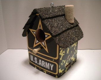 US Army License Plate Birdhouse